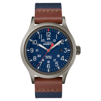 "Montre Homme Timex ""Expedition Scout"" Boîtier 40mm Cadran INDIGLO® Bleu   - TW4B14100"