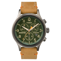 "Montre Homme Timex ""Expedition Scout Chrono"" Boîtier 42mm Cadran INDIGLO® Vert - TW4B04400"
