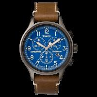 """Montre Homme Timex """"Expedition Scout Chrono"""" Boîtier 42mm Gris Foncé Cadran INDIGLO® Bleu - TW4B09000"""