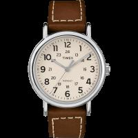 "Montre Homme Timex ""Weekender"" Boîtier 40mm en Acier Cadran INDIGLO® Blanc - TW2R42400"