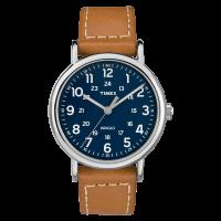 "Montre Homme Timex ""Weekender"" Boîtier 40mm en Acier Cadran INDIGLO® Bleu - TW2R42500"