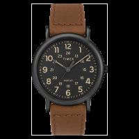 "Montre Homme Timex ""Weekender"" Boîtier 40mm en Acier Noir Cadran INDIGLO® Noir - TW2T30500"