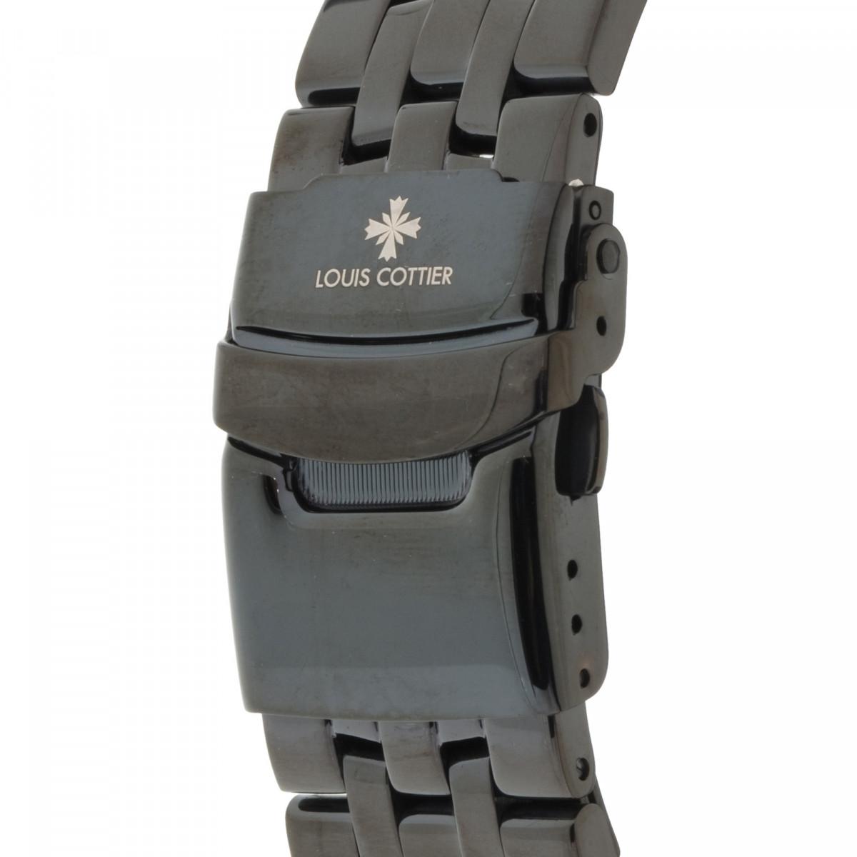 Montre Louis Cottier AIRFLY Automatique 44 mm Noir boitier noir - Bracelet noir - HB3231C1BM2