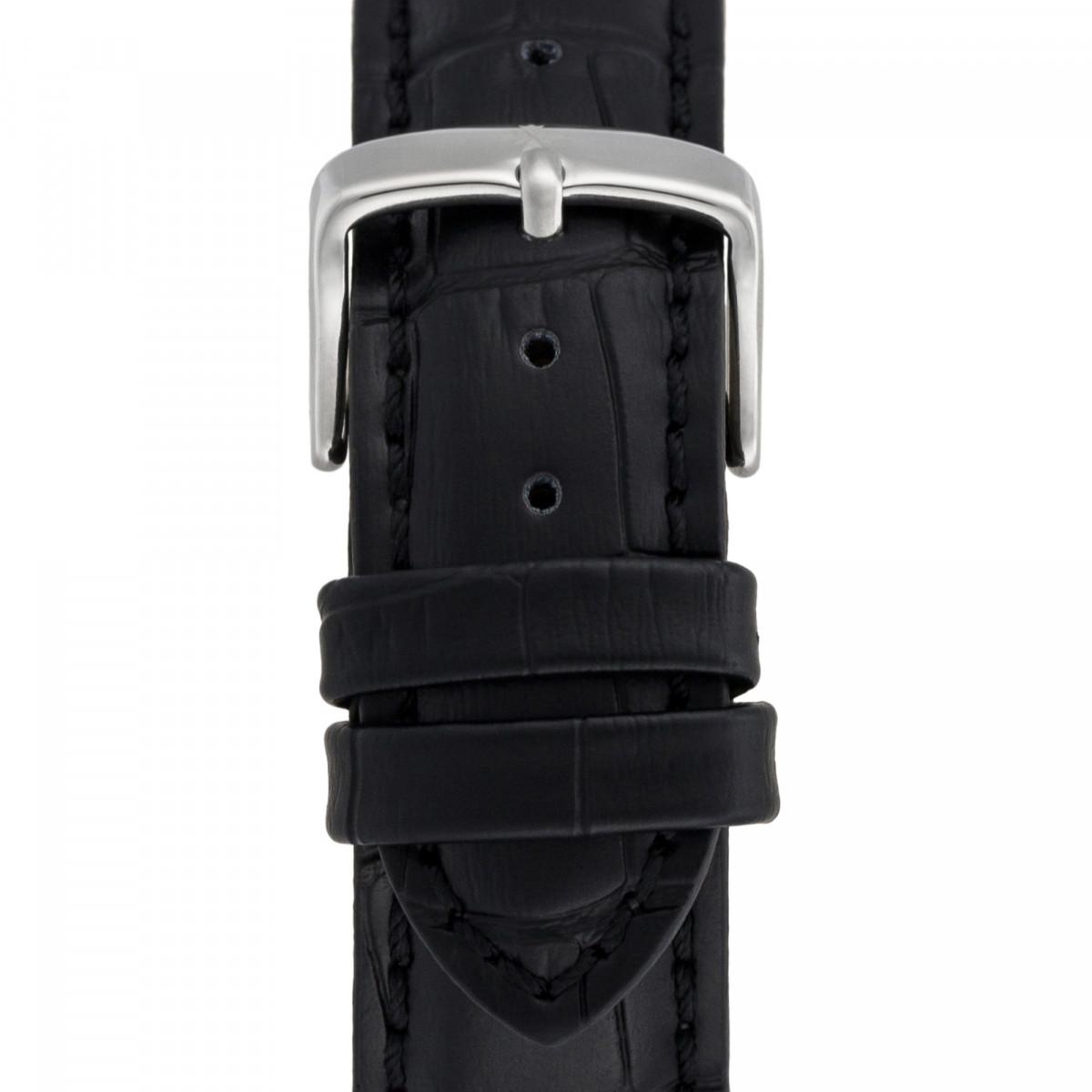 Montre Louis Cottier STORYMATIC Automatique 43 mm Bleu boitier argenté - bracelet noir - HB34330C4BC1