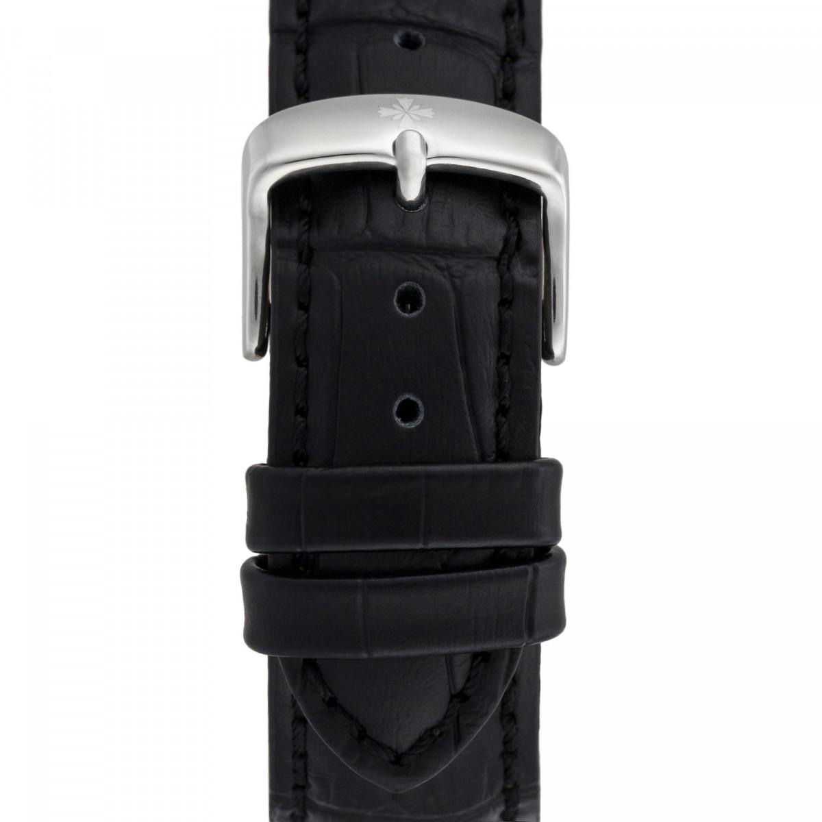 Montre Louis Cottier STORYMATIC Automatique 43 mm Bleu marine boitier argenté - bracelet noir - HB34330C1BC1