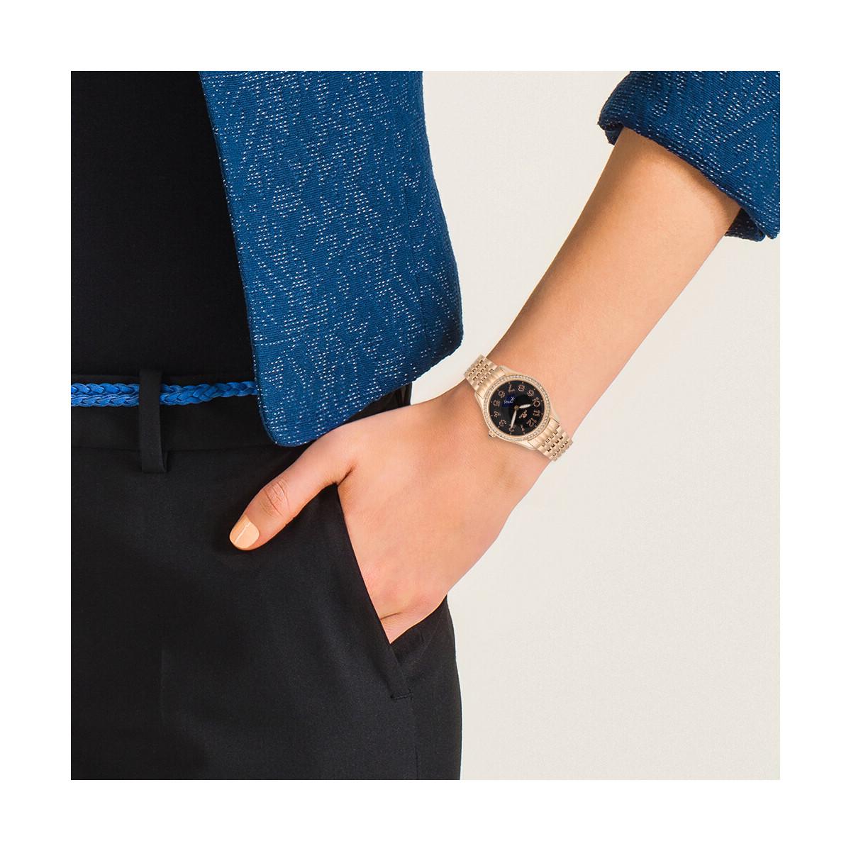 """Montre Jost Burgi """"STELLA"""" bracelet métal - HB4A13C1BM3"""