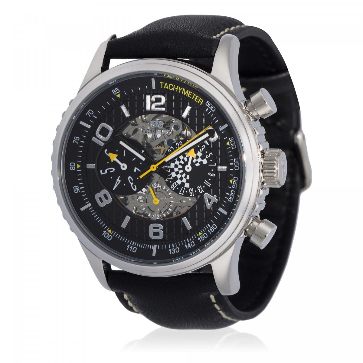 """Montre Jost Burgi """"RACING"""" bracelet cuir - HB4A60C1jBC1"""