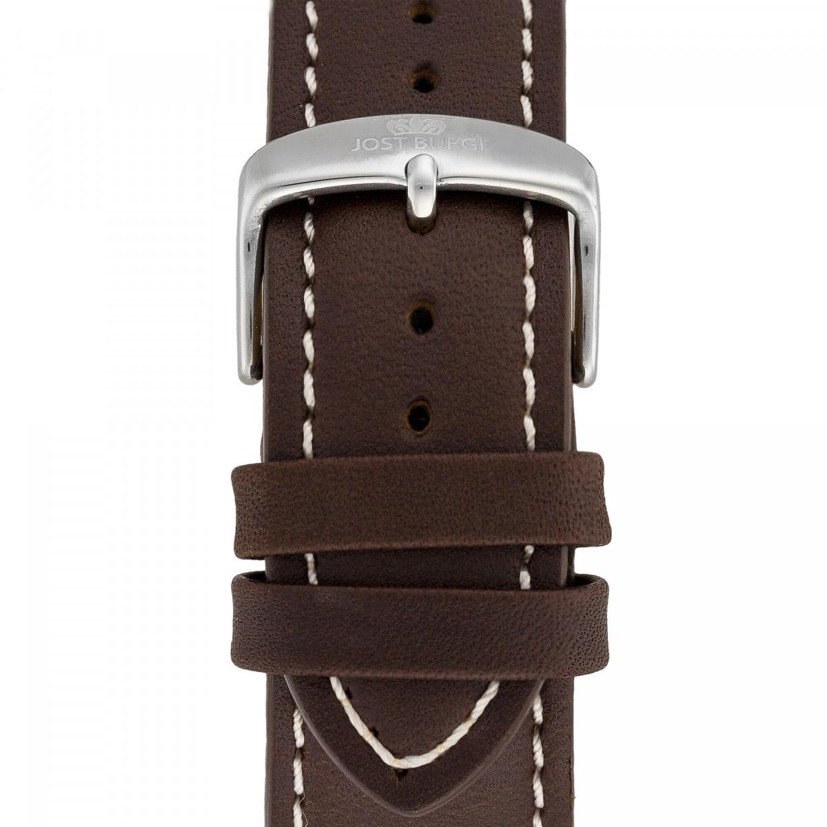 """Montre Jost Burgi """"RACING"""" bracelet cuir - HB4A61C2BC2"""