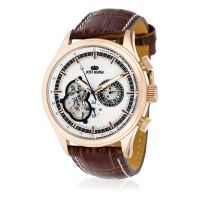 """Montre Jost Burgi """"ICONIC"""" bracelet cuir - HB4A73C2BC2"""