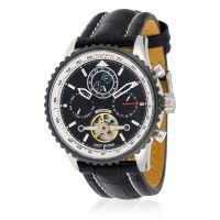 """Montre Jost Burgi """"AIRMAN"""" bracelet cuir - HB4A80C1BC1"""