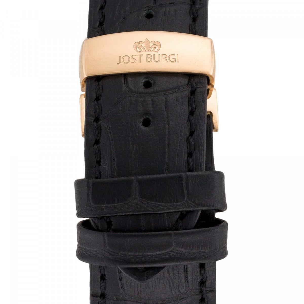 "Montre Jost Burgi ""REVONE"" bracelet cuir - HB4B13C1BC1"
