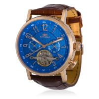 "Montre Jost Burgi ""REVONE"" bracelet cuir - HB4B13C4BC2"