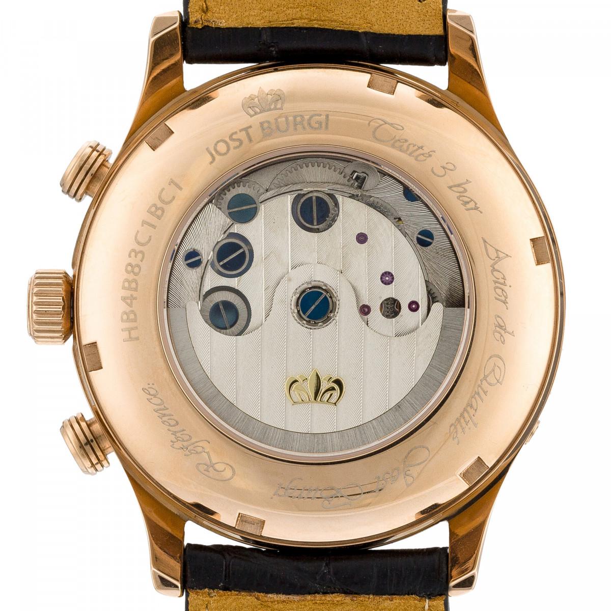"""Montre Jost Burgi """"LA METROPOLE"""" bracelet cuir - HB4B83C1BC1"""