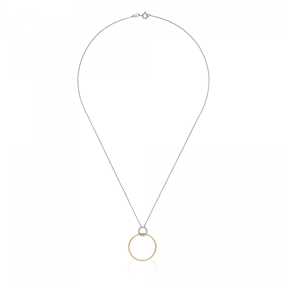 """Pendentif Or Bicolore """"ACROBATE"""" Diamants 0,09 carat + chaine argent offerte"""
