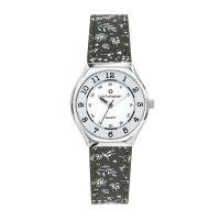 Montre Fille LuluCastagnette Mini Star  bracelet noir motifs floraux - 38847