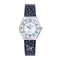 Montre Fille LuluCastagnette Mini Star  bracelet bleu tacheté blanc - 38852