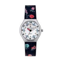 Montre Fille LuluCastagnette Mini Star  bracelet bleu foncé motif floral - 38877
