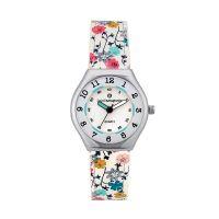 Montre Fille LuluCastagnette Mini Star  bracelet blanc motif floral - 38878