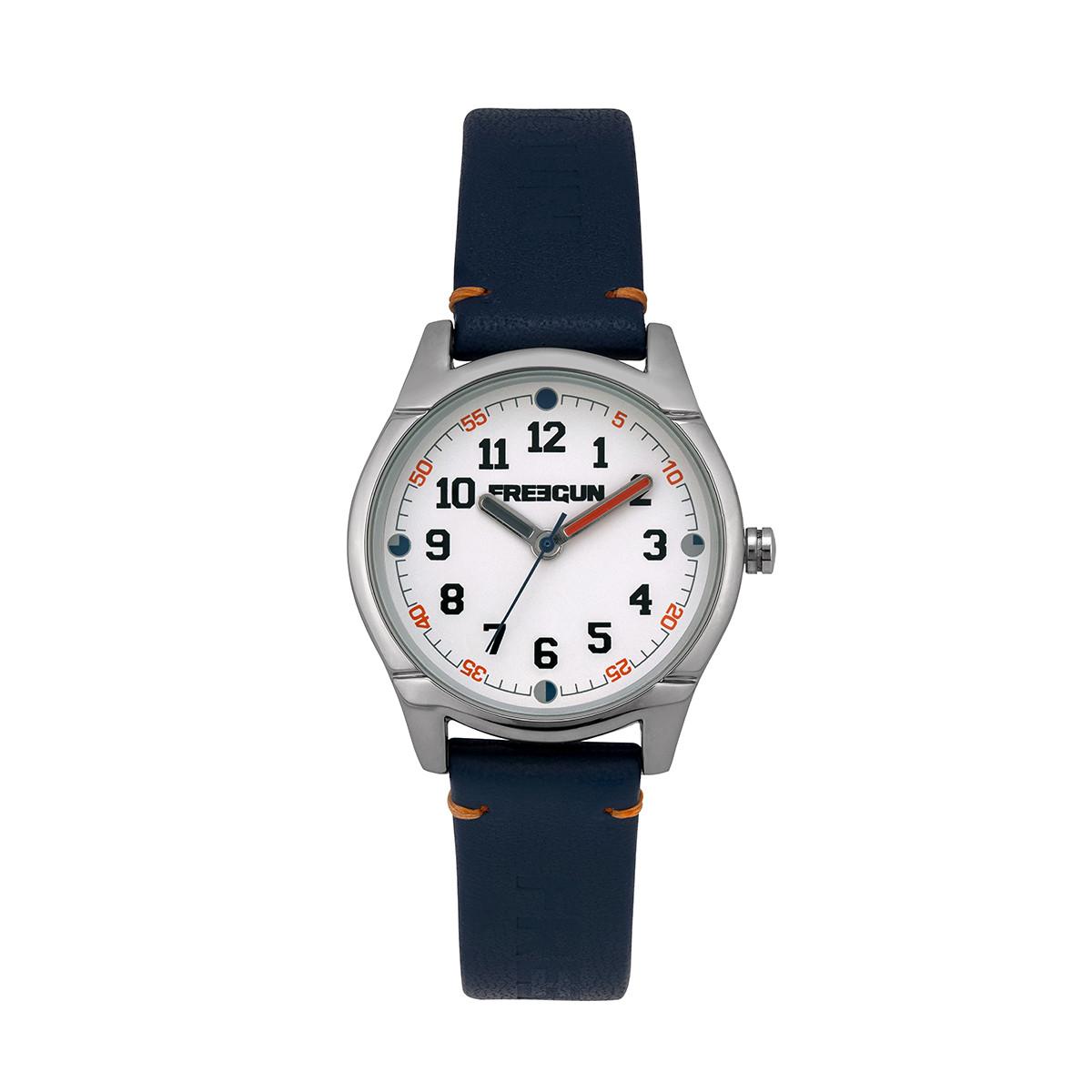 Montre Garçon Freegun Varial Bracelet en cuir bleu - EE5259
