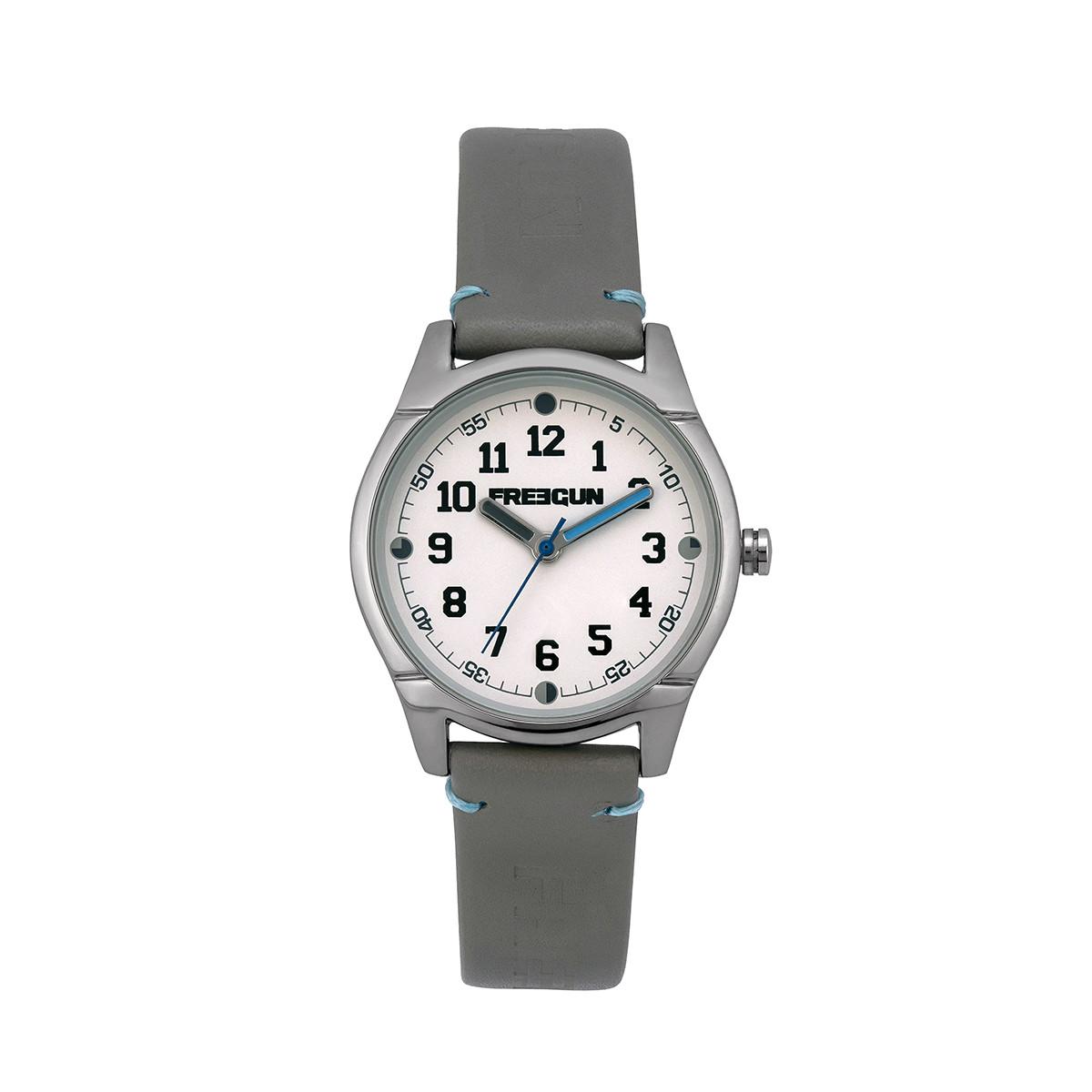 Montre Garçon Freegun Varial Bracelet en cuir gris - EE5261