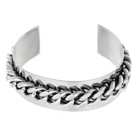 """Bracelet Ethnique Acier """"MAILLES"""""""