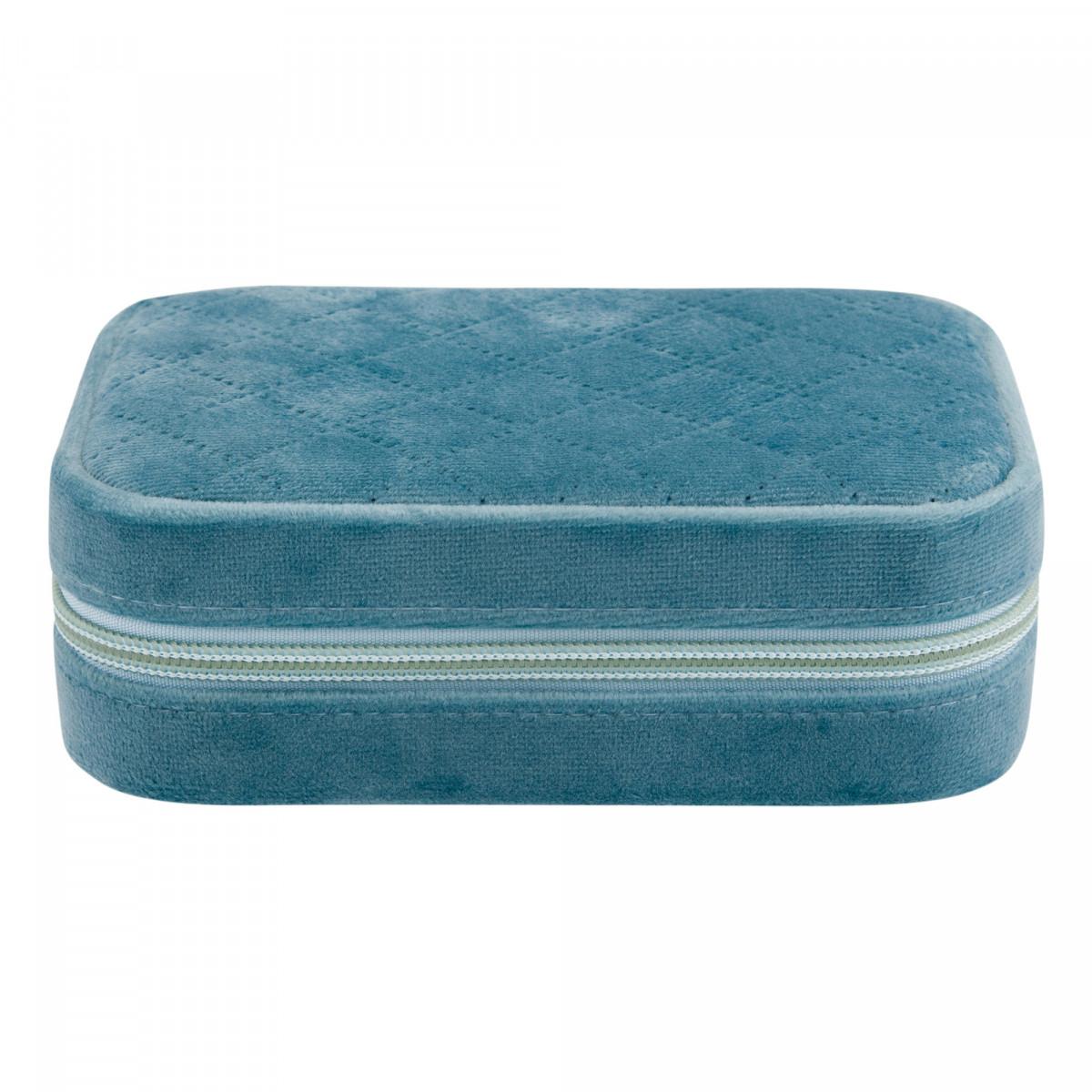 Pochette à Bijoux Bleu VELVET - 16 x 10 x 5 cm