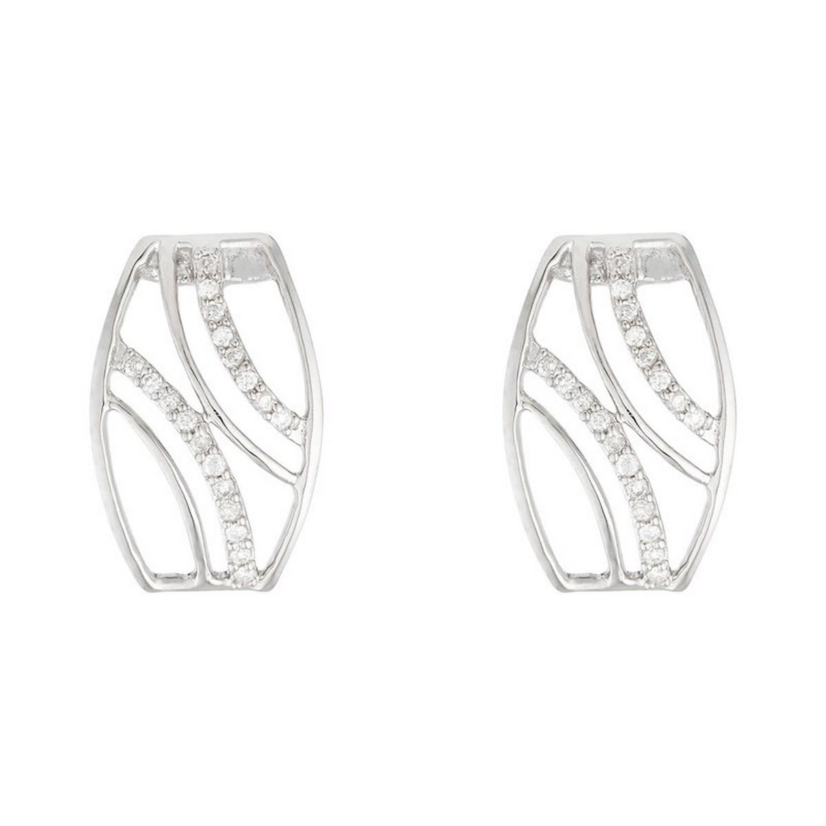 "Boucles d'oreilles Or Blanc ""SHÉHÉRAZADE"" Diamants 0,11 carat"