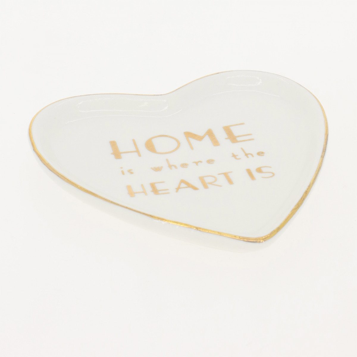 Coupelle Porte Bijoux HOME IS WHERE THE HEART IS - 12 x 13,5 cm