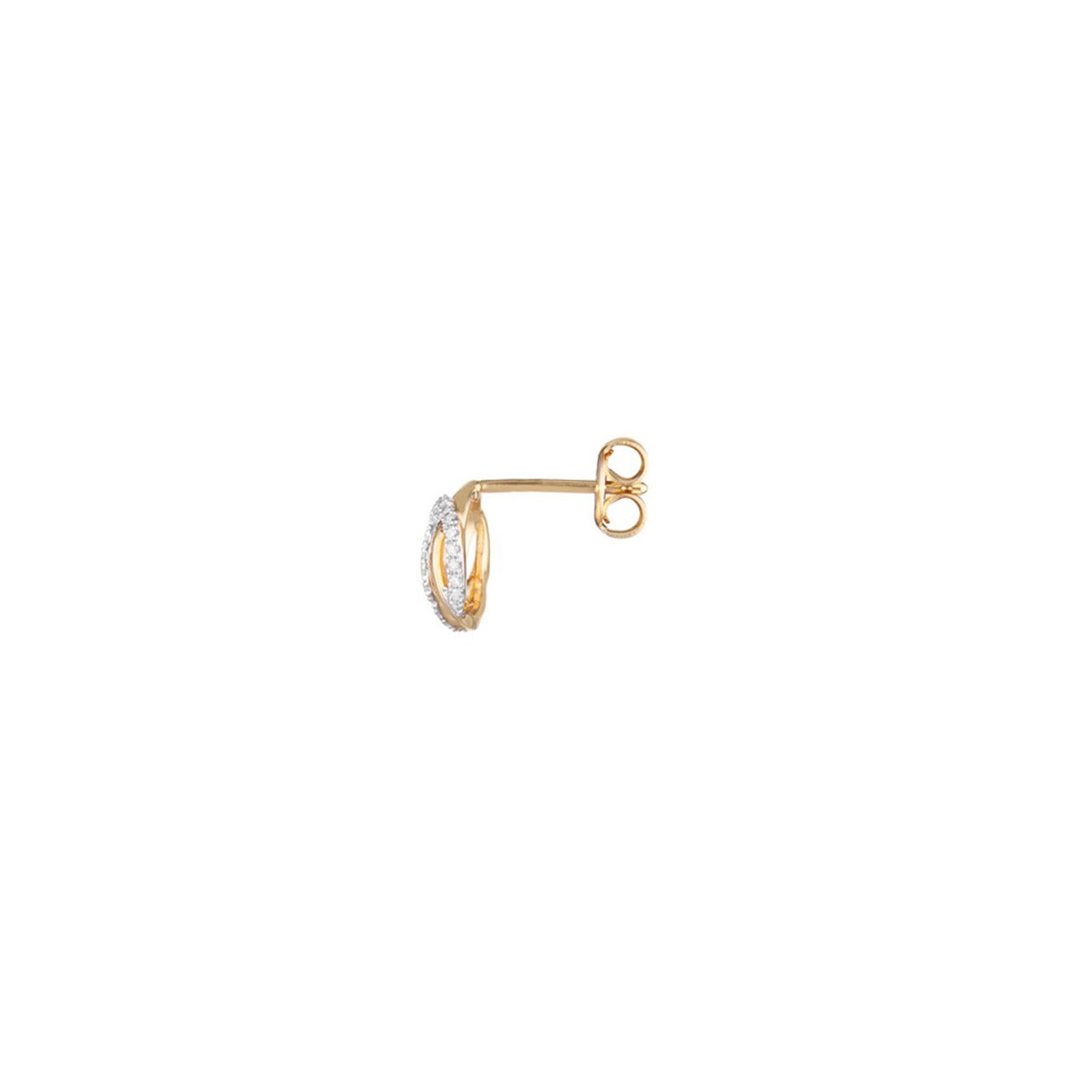 "Boucles d'oreilles Or Jaune et Diamants 0,16 carat ""GOLDEN EYE"""