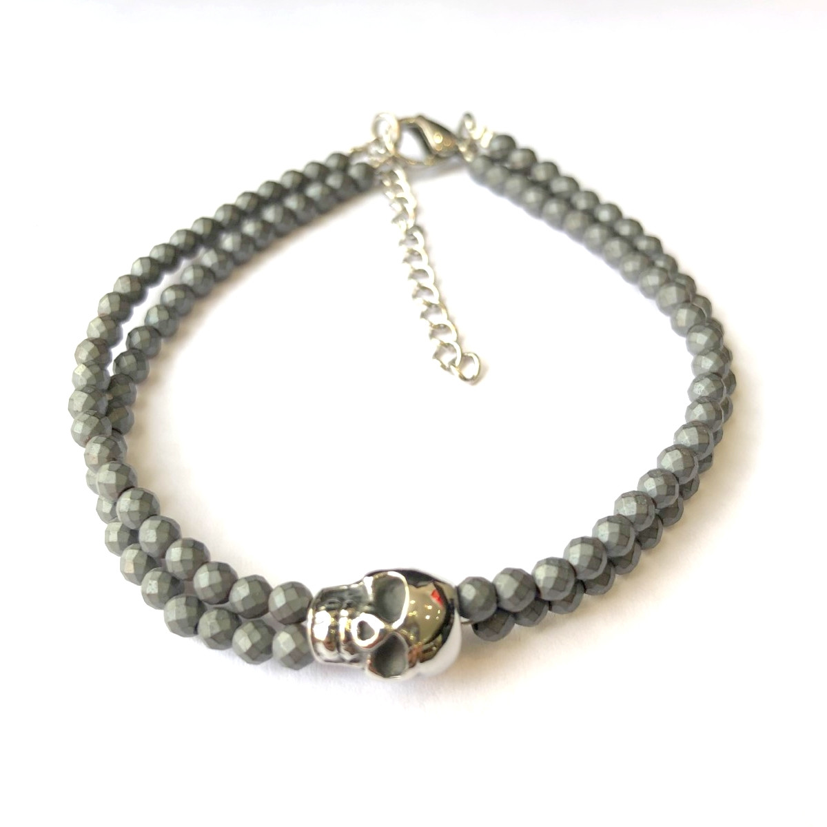 "Bracelet Homme ajustable pierres ""DARK MOOD"""