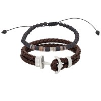 Duo Bracelets Homme ANCHOR & ROCK AND SAND