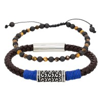 Duo Bracelets Homme BLUE ROPE & SAND