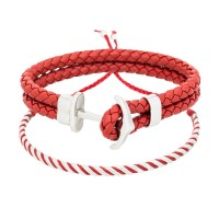 Duo Bracelets Homme ANCHOR & RED WAX