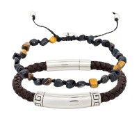 Duo Bracelets Homme RICK & TIGER WAX