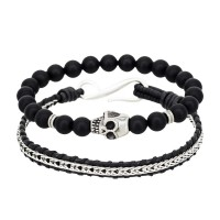Duo Bracelets Homme GENTLEMEN & DARK SIDE