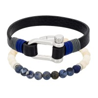 Duo Bracelets Homme DARK BLUE & SAND AND SEA
