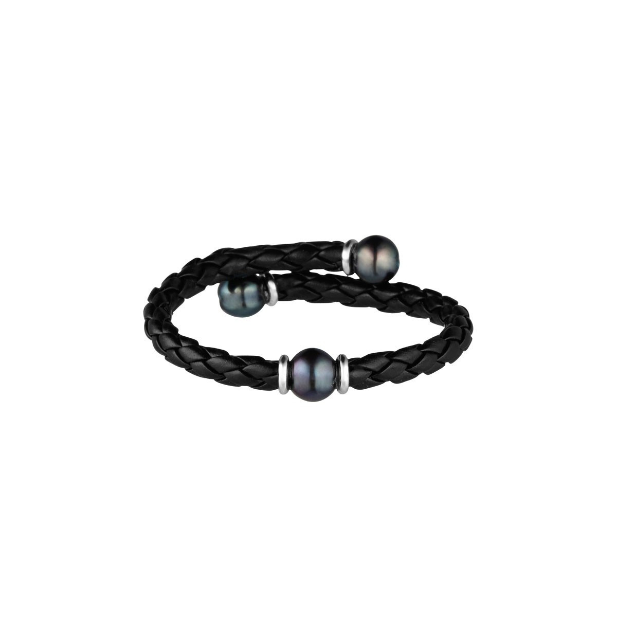 """Bracelet perles de culture noires """"Shamballa The Only One Noir"""""""