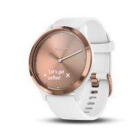 Montre connectée hybride Garmin VIVOMOVE HR, rosée bracelet blanc, petite/moyenne