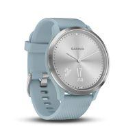 Montre connectée hybride Garmin VIVOMOVE HR, silver bracelet bleu, petite/moyenne