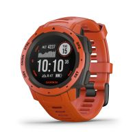 Montre GPS Garmin INSTINCT, rouge feu