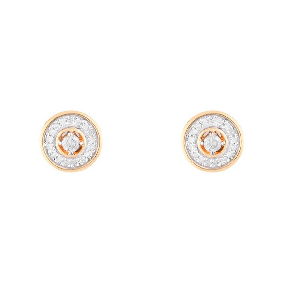 """Boucles d'oreilles Or Jaune """"DIVINE"""" Diamants 0,12 carat"""