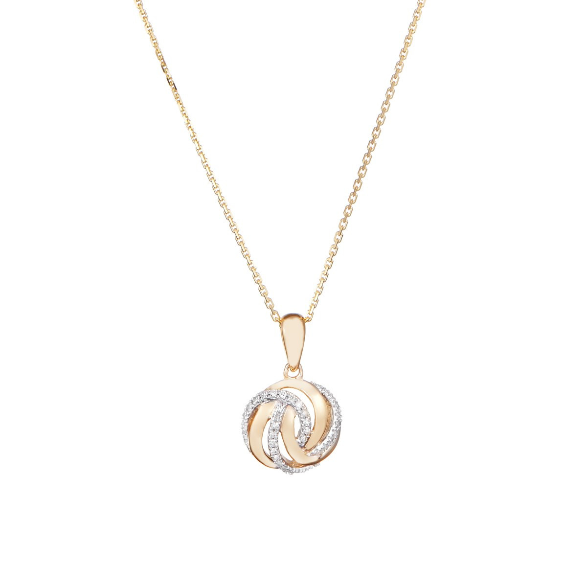 Pendentif Or Jaune GOLDEN EYE Diamants 0,09 carat + chaîne vermeil offerte