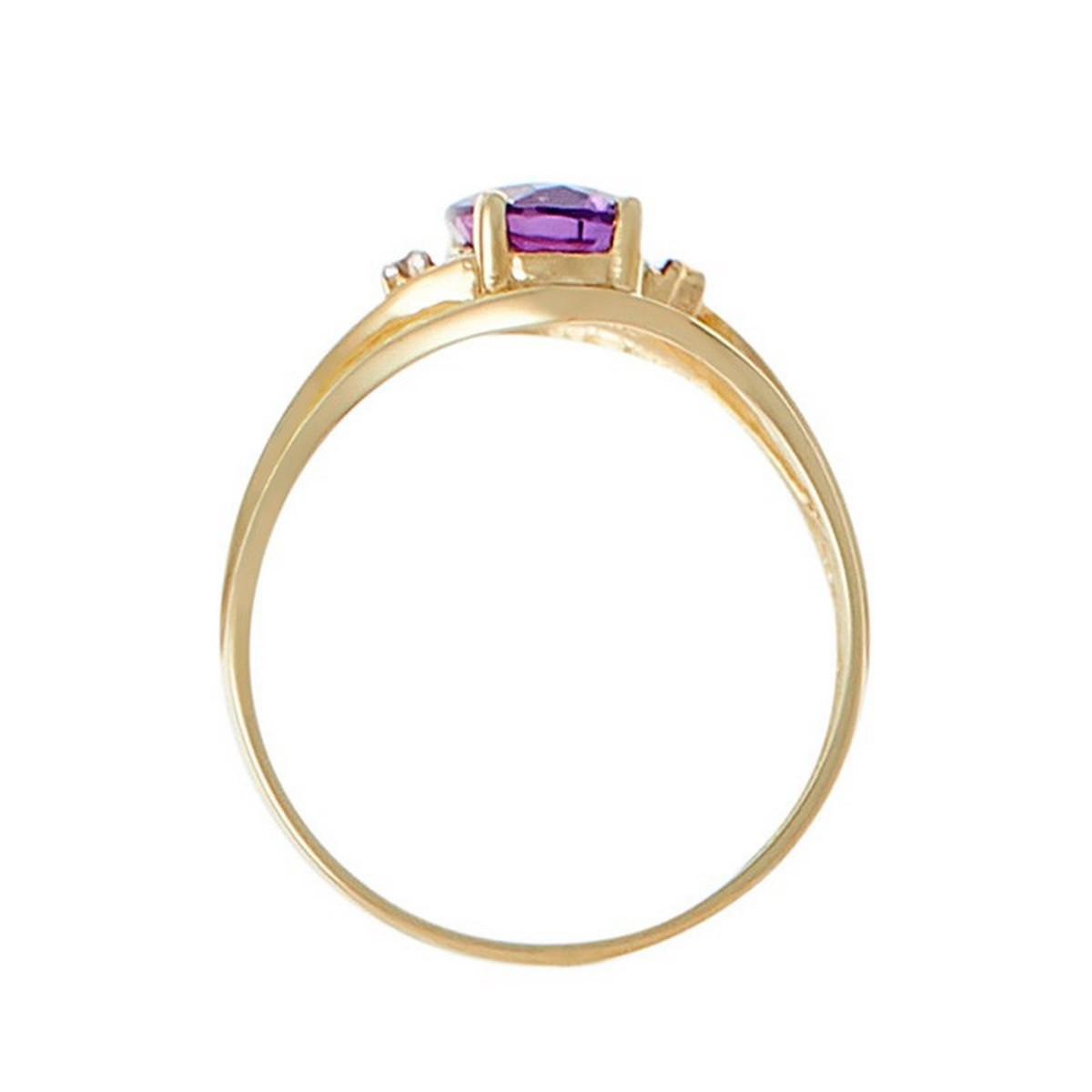 """Bague Or Jaune """"MANAUS"""" Diamants 0,01 carat et Améthyste 1,65 carat"""