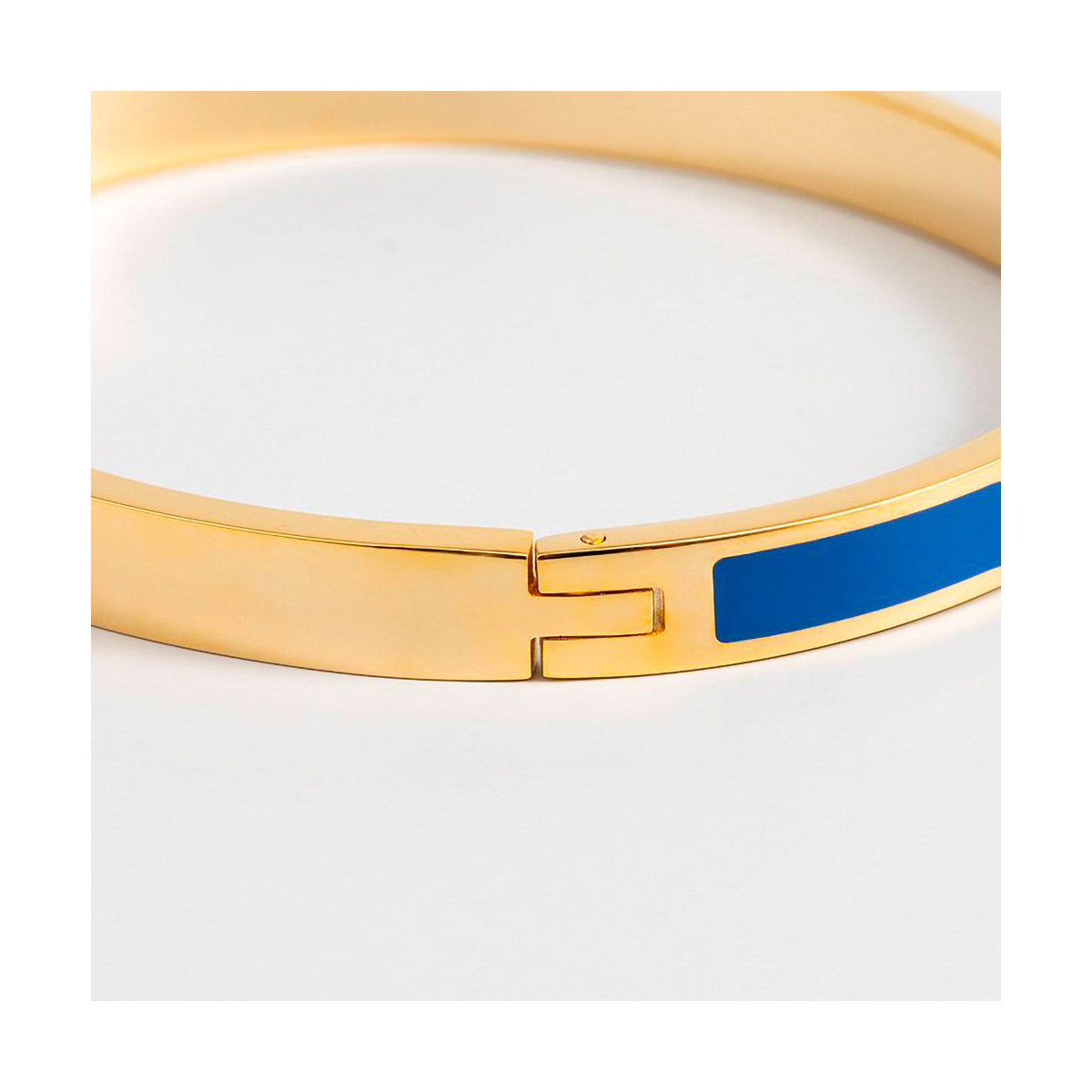 "Bracelet jonc ""TORONTO"" émail Bleu finition dorée"