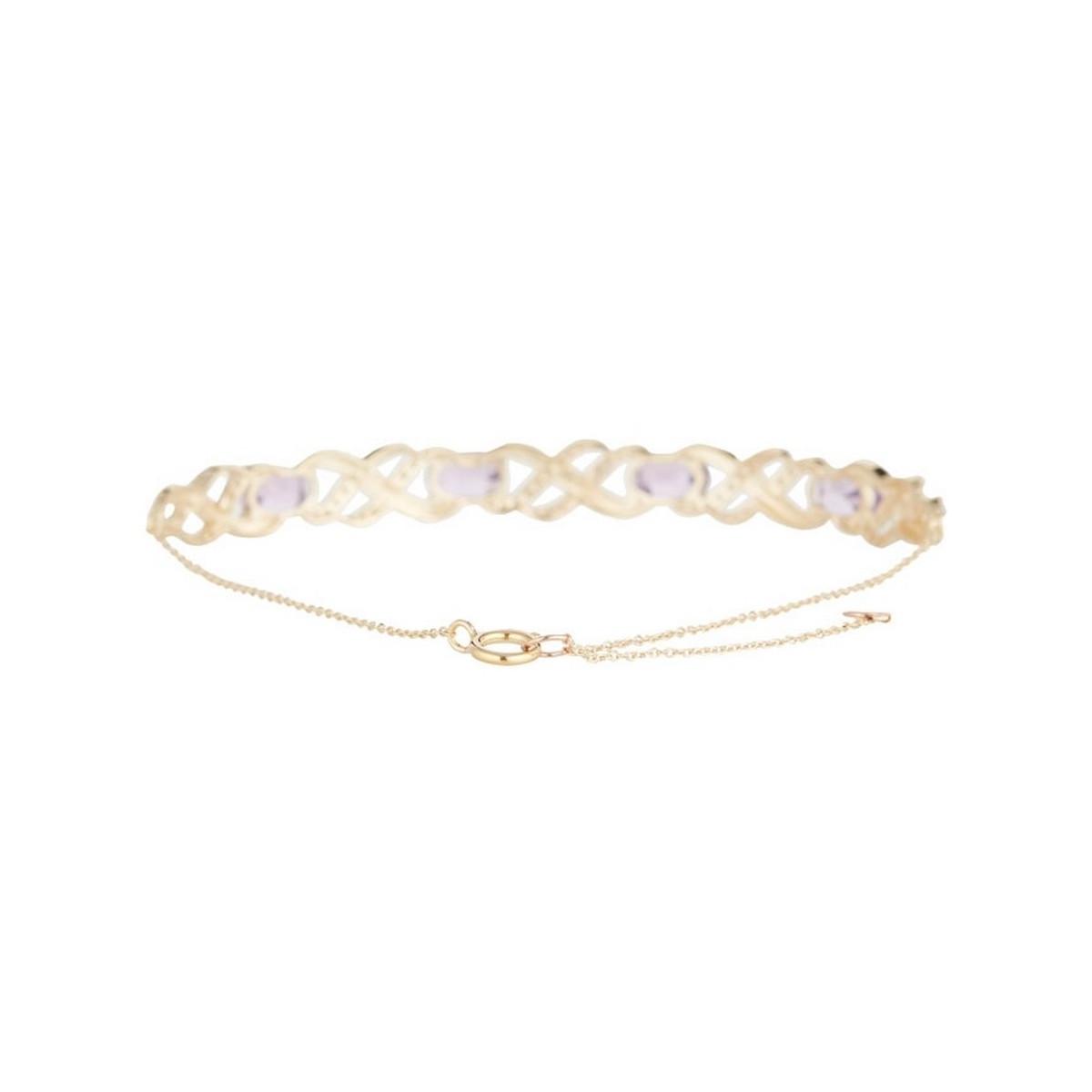 """Bracelet chaine Or Jaune """"LAUNCESTON"""" Diamants 0,42 carat et Améthyste 2,8 carat"""