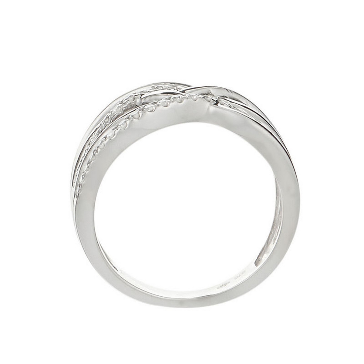 bague or blanc diamant 0.25