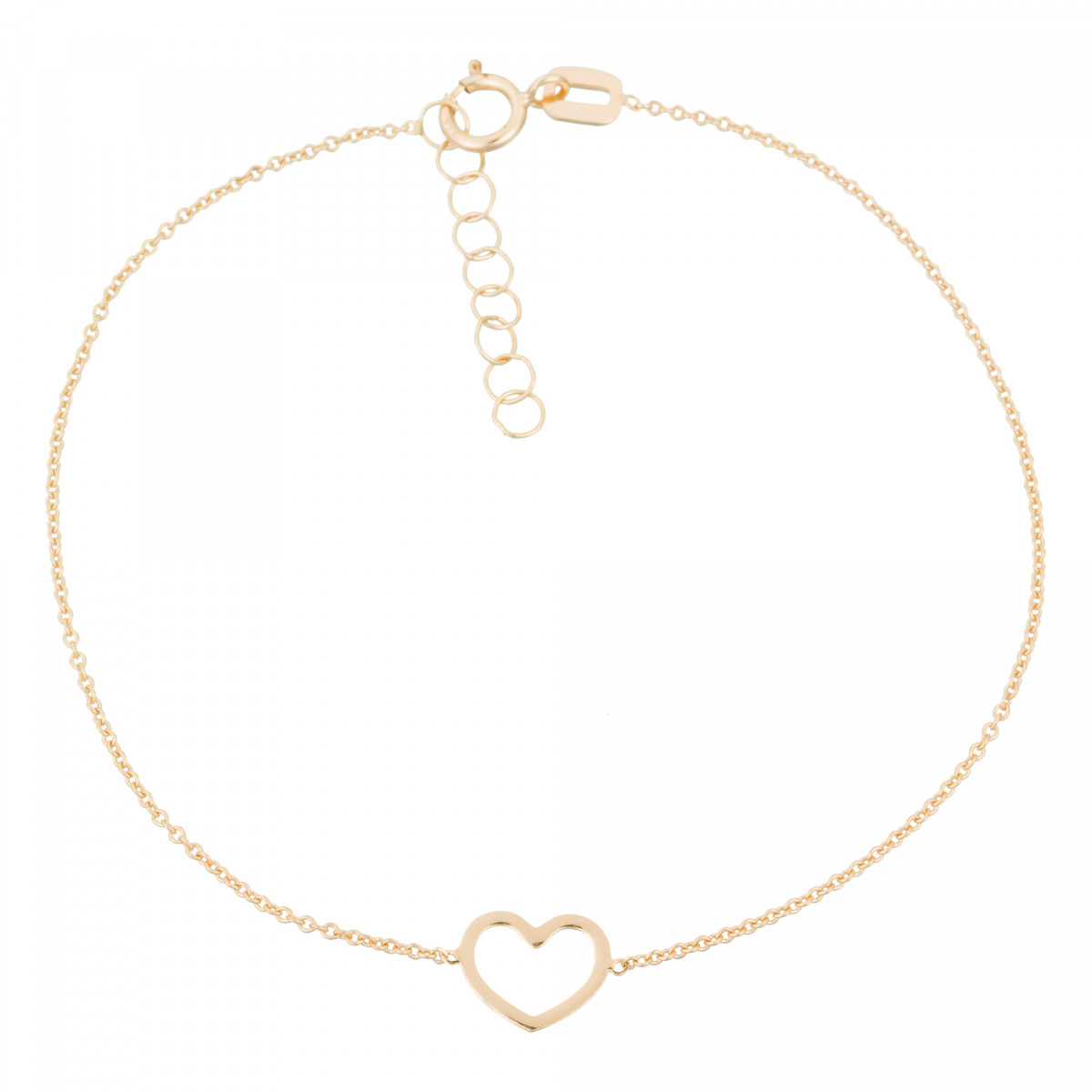 "Bracelet or jaune fille ""CŒUR JOLI"""