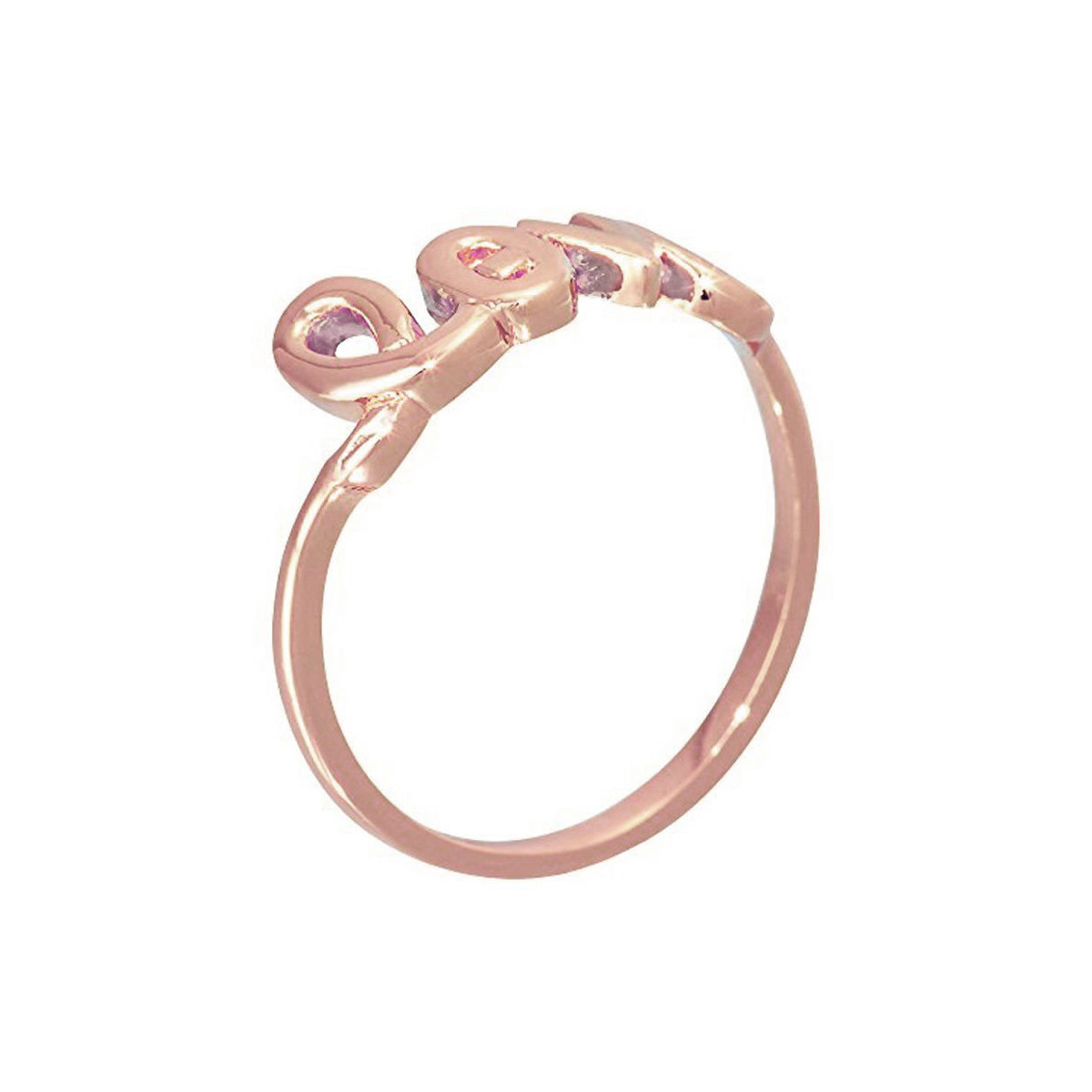 """LOVE"" Bague à message rosé"