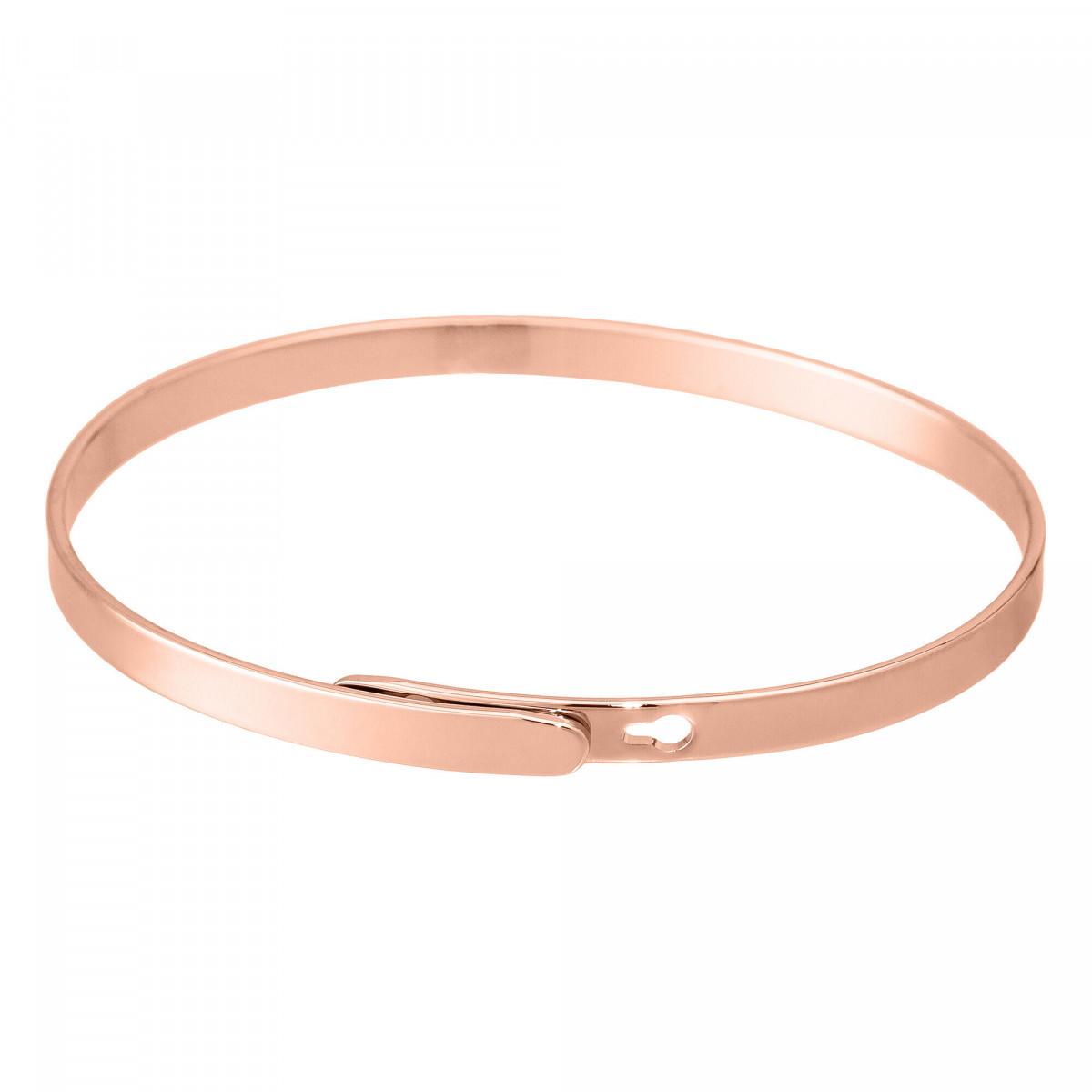 """""""FRIENDSHIP NEVER ENDS"""" bracelet jonc rosé à message"""