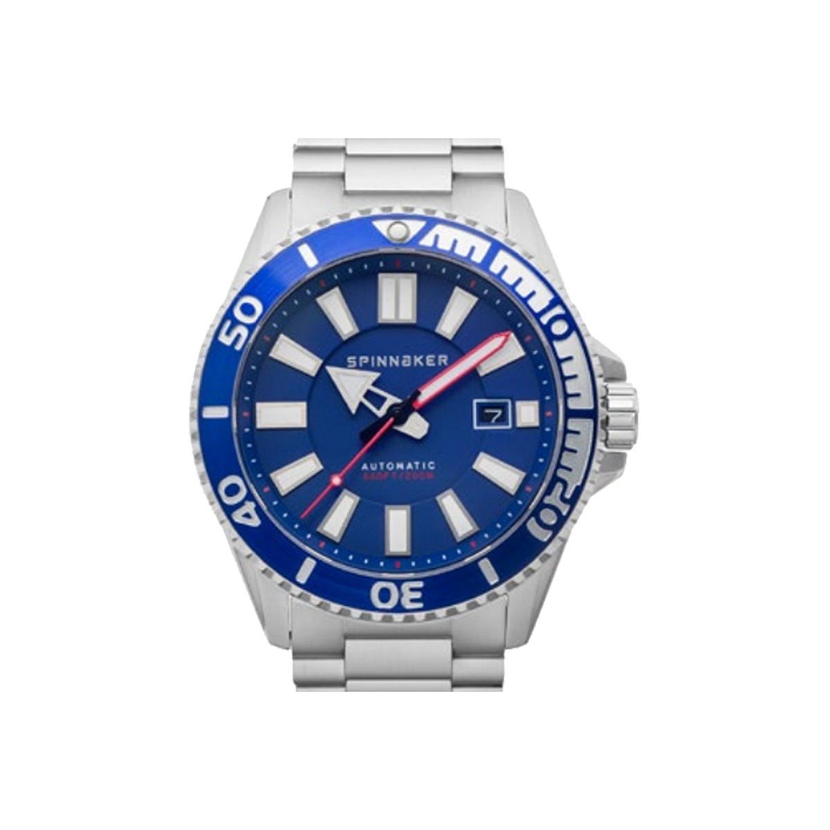 Montre Homme Spinnaker AMALFI Automatique Cadran bleu Bracelet acier
